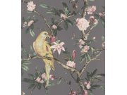 Cvjetna flis tapeta s papigom Poetry II 543346, 0,53 x 10 m | Ljepilo besplatno Rasch