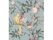 Cvjetna flis tapeta s papigom Poetry II 543339, 0,53 x 10 m | Ljepilo besplatno Rasch
