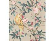 Cvjetna flis tapeta s papigom Poetry II 543322, 0,53 x 10 m | Ljepilo besplatno Rasch