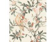 Cvjetna flis tapeta s papigom Poetry II 543315, 0,53 x 10 m | Ljepilo besplatno Rasch