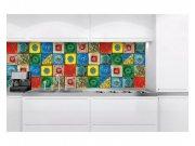 Samoljepljiva foto tapeta za kuhinje Lisabonske pločice KI-180-107 | 180x60 cm Foto tapete