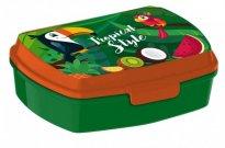 EUROSWAN kutija za grickalice Toucan plastika, 16 x 12 x 5 cm Za škole i vrtiće - snack kutije
