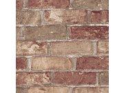 Vinilna periva tapeta sivosmeđe cigle 5522-04, 0,53 x 10 m | Ljepilo besplatno Na skladištu