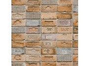 Vinilna periva tapeta narančastosmeđe cigle 5678-02, 0,53 x 10 m | Ljepilo besplatno Na skladištu