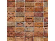 Vinilna periva tapeta crvenonarančaste cigle 5678-06, 0,53 x 10 m | Ljepilo besplatno Na skladištu