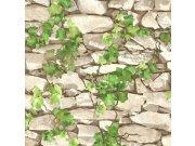 Vinilna periva tapeta kamen s bršljanom 5695-01, 0,53 x 10 m | Ljepilo besplatno Na skladištu
