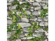Vinilna periva tapeta kamen s bršljanom 5695-10, 0,53 x 10 m | Ljepilo besplatno Na skladištu