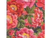 Flis periva tapeta Cvjetni uzorak Kimono 408355 | Ljepilo besplatno Rasch