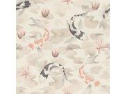 Flis periva tapeta tapeta po japanskom uzorku Kimono 409420 | Ljepilo besplatno Rasch