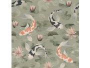Flis periva tapeta tapeta po japanskom uzorku Kimono 409437 | Ljepilo besplatno Rasch