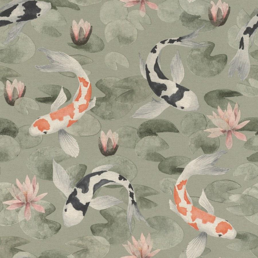 Flis periva tapeta tapeta po japanskom uzorku Kimono 409437 | Ljepilo besplatno - Rasch