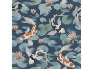 Flis periva tapeta tapeta po japanskom uzorku Kimono 409444 | Ljepilo besplatno Rasch