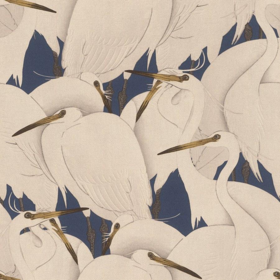 Flis periva tapeta tapeta po japanskom uzorku Kimono 409550 | Ljepilo besplatno - Rasch