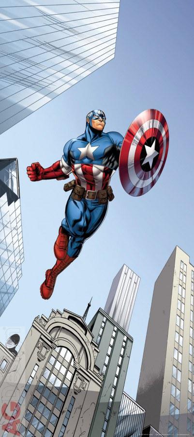 Flis foto tapeta AG Captain America FTDNV-5454   90x202 cm - Foto tapete