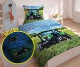 DETEXPOL Traktor za posteljinu svijetleći pamuk, 140/200, 70/80 cm Posteljina foto print