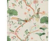 Flis tapeta lišće i ptice Aldora III 539431, 0,53 x 10 m | Ljepilo besplatno Na skladištu