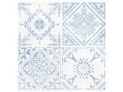 Samoljepljive vinil podne pločice plavobijeli ornament 1m2 Samoljepljive podne obloge