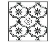 Samoljepljive vinil podne pločice crnobijeli ornament 1m2 Samoljepljive podne obloge