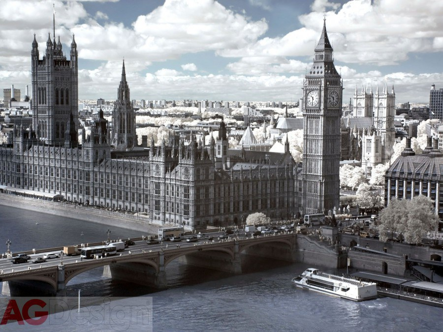 Flis foto tapeta AG Old London FTNXXL-1139 | 360x270 cm - Foto tapete