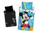 JERRY TKANINE Posteljina Mickey Happy svijetleći pamuk, 140/200, 70/90 cm Posteljina sa licencijom