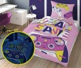 DETEXPOL posteljina Play Game Svijetli pamuk, 140/200, 70/80 cm Posteljina za mlade