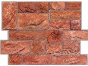 3D zidni PVC panel crvena cigla 3D zidni paneli