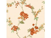 Luksuzna bež flis tapeta cvjetni uzorak FT221211 | , 0,53 x 10 m | Ljepilo besplatno Na skladištu