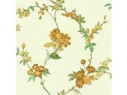 Luksuzna flis tapeta s cvjetnim uzorkom FT221212 | , 0,53 x 10 m | Ljepilo besplatno Na skladištu