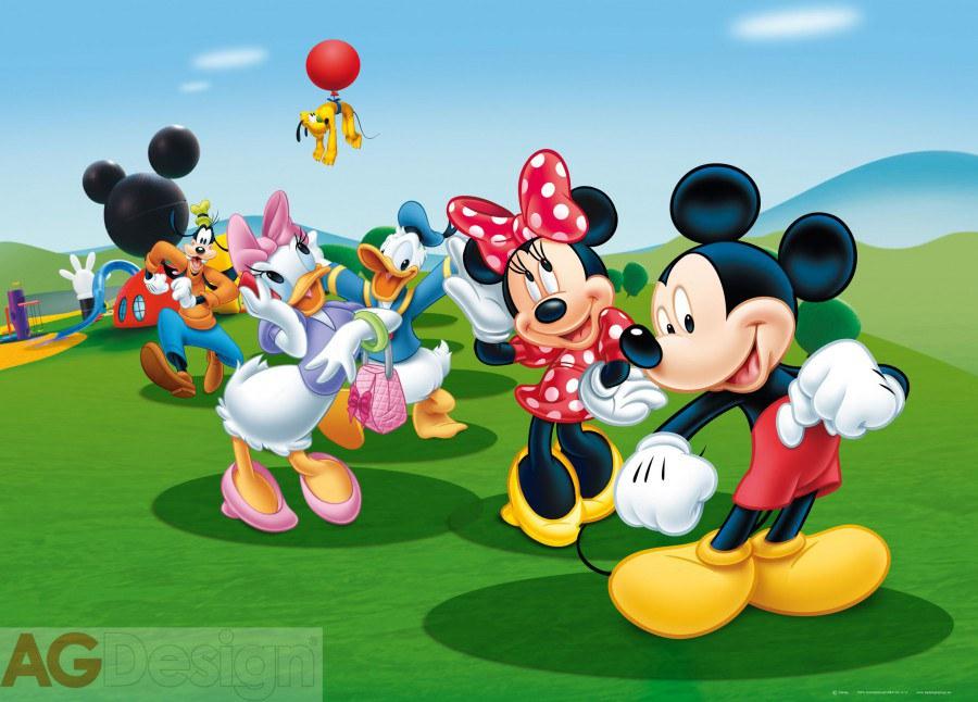 Flis foto tapeta AG Mickey i prijatelji FTDNM-5212 | 160x110 cm - Foto tapete