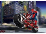 Flis foto tapeta AG Spiderman na motorce FTDNM-5222 | 160x110 cm Foto tapete