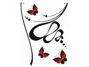 Naljepnica za zid Bvtterfly and Flower baršvn FL-0480, 85x65 cm Naljepnice za zid