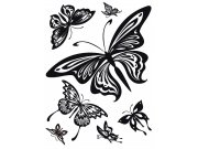 Naljepnica za zid Crni leptiri baršvn FL-0483, 85 x 65 cm Naljepnice za zid