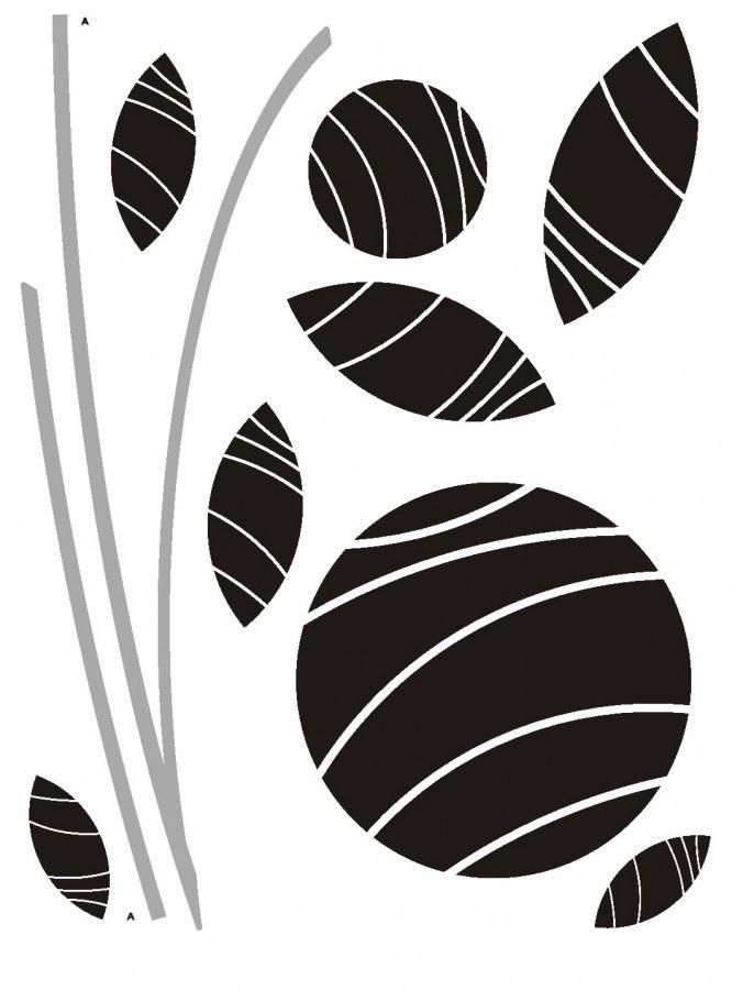 Naljepnica za zid Abstract flowers baršvn FL-0486, 85 x 65 cm - Naljepnice za zid