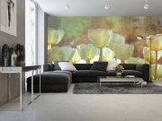 Foto tapeta Astrakt bijeli tulipani | Ljepilo besplatno Foto tapete