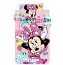 JERRY TABRICS Posteljina Minnie pink pink square baby Cotton, 100/135, 40/60 cm Posteljina za krevetiće