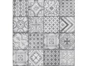 Vinil tapeta za zid Ceramics sivi patchwork pločice 270-0177 | širina 67,5 cm Na skladištu