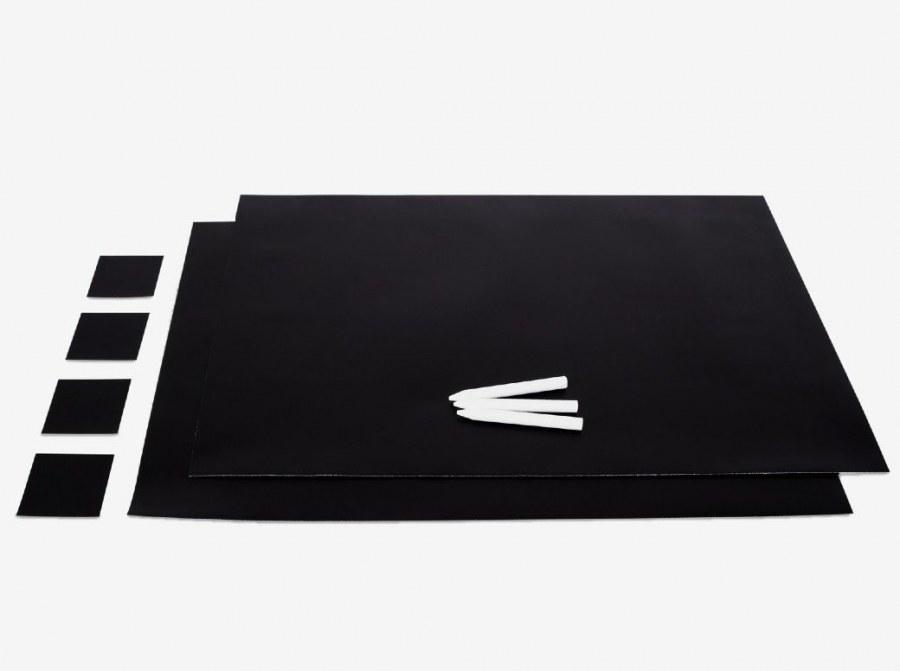 Magnetska samoljepljiva folija za pisanje kredom, crna - Ploče