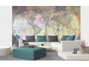 Flis foto tapeta Karta svijeta globus | 375x250 cm Foto tapete
