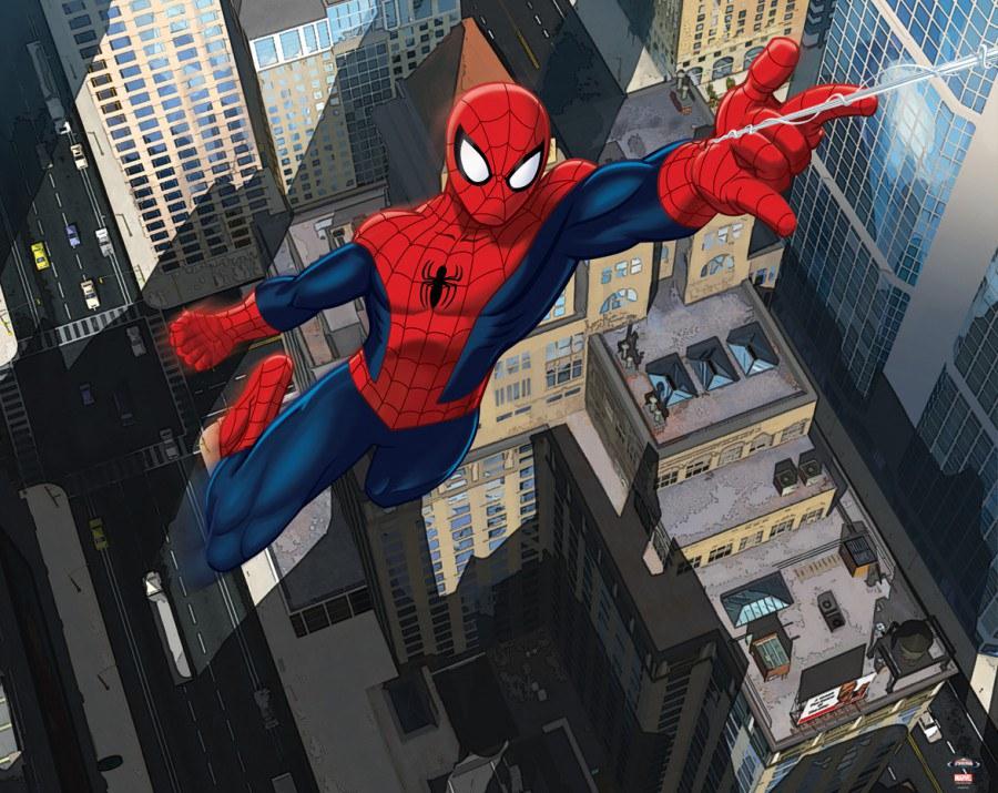 3D foto tapeta Walltastic Spiderman Ultimate 43114 | 305x244 cm - Foto tapete