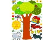Dječje naljepnice Stablo K-1044, 85x65 cm Naljepnice za dječju sobu