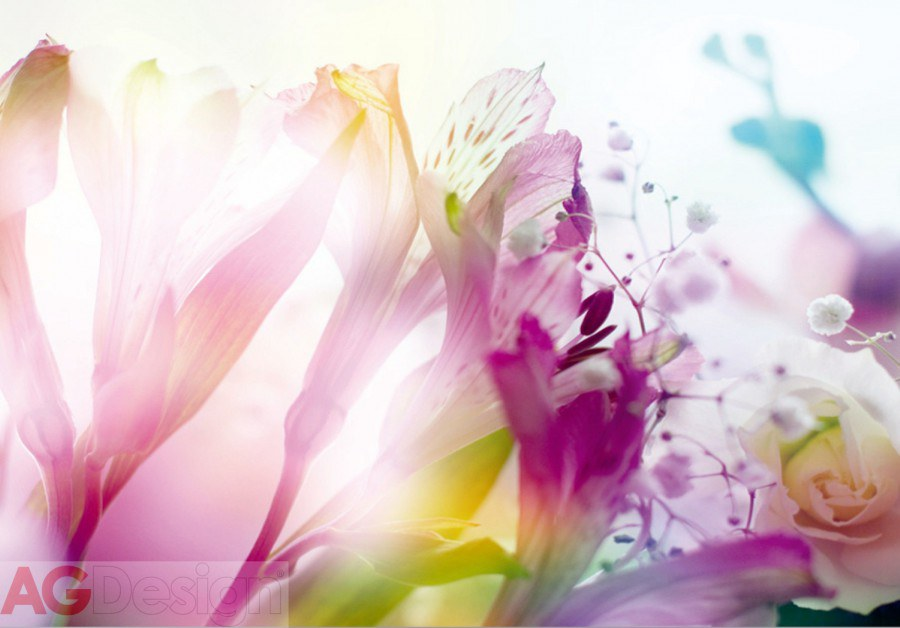 Flis foto tapeta AG Light Flowers FTNXXL-0443 | 360x270 cm - Foto tapete