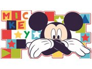 Dječje naljepnice Mickey Mouse D23501, 30x60 cm Naljepnice za dječju sobu