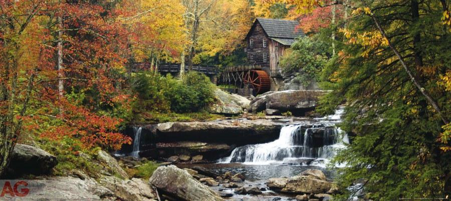 Flis foto tapeta AG Waterfall FTNH-2712 | 202x90 cm - Foto tapete