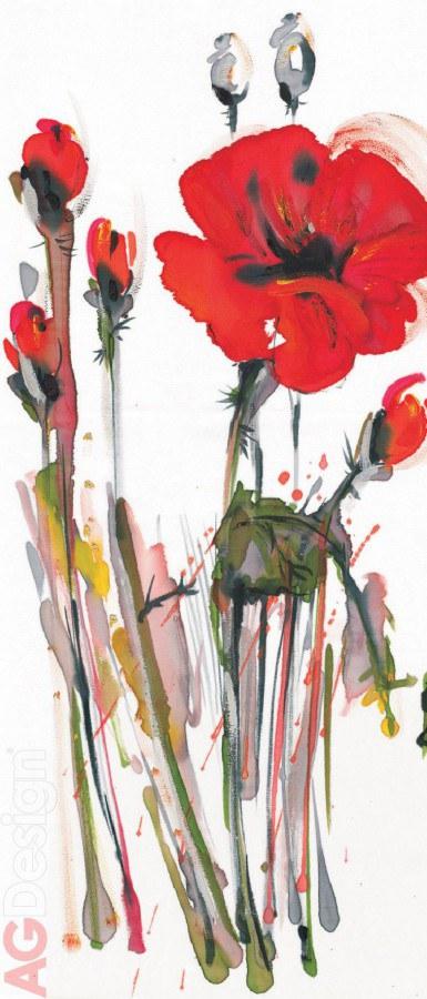 Flis foto tapeta AG Art Poppy FTNV-2829 | 90x202 cm - Foto tapete