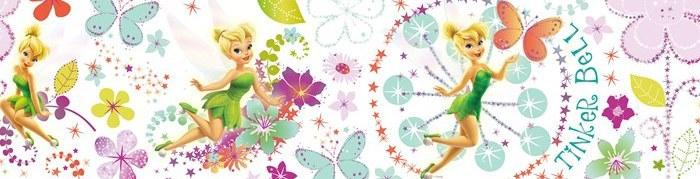 Samoljepliva bordura Fairies D90039, 15,9 x 500 cm - Naljepnice za dječju sobu