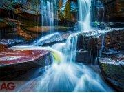 Flis foto tapeta AG Waterfall FTNXXL-2426 | 360x270 cm Foto tapete