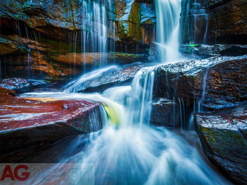 Flis foto tapeta AG Waterfall FTNXXL-2426 | 360x270 cm - Foto tapete