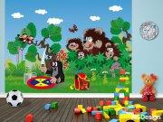 Fototapeta AG Krteček a medvědi FTNXXL-2423 | 360x270 cm Fototapety pro děti