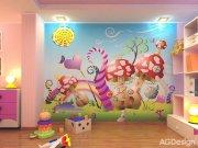 Fototapeta AG Mochomůrky FTNXXL-0410 | 360x270 cm Fototapety pro děti
