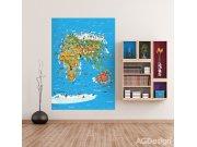 Flis foto tapeta AG Karta svijeta FTNXL-2540 | 180x202 cm Foto tapete